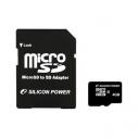 Карта памяти MicroSDHC 4 Gb Silicon Power class 10